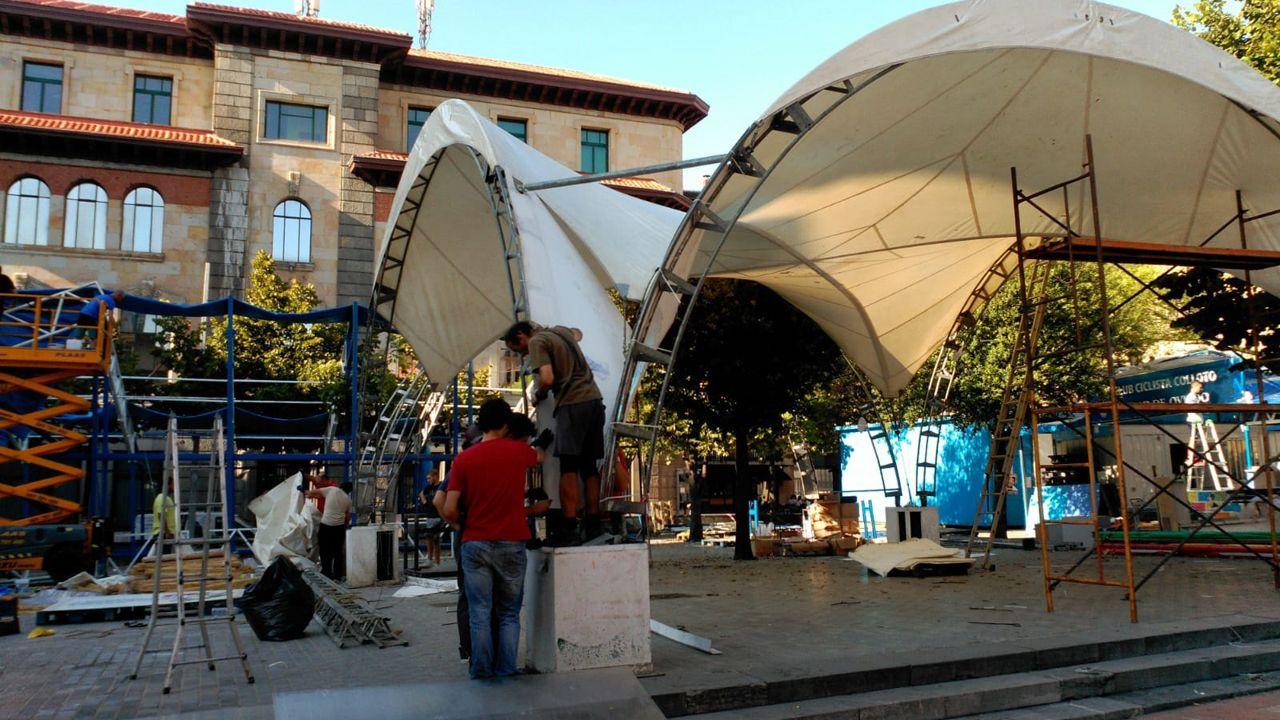chiringuito San Mateo fiestas.Los chiringuitos de San Mateo inician las obras días previos a la inauguración de las fiestas