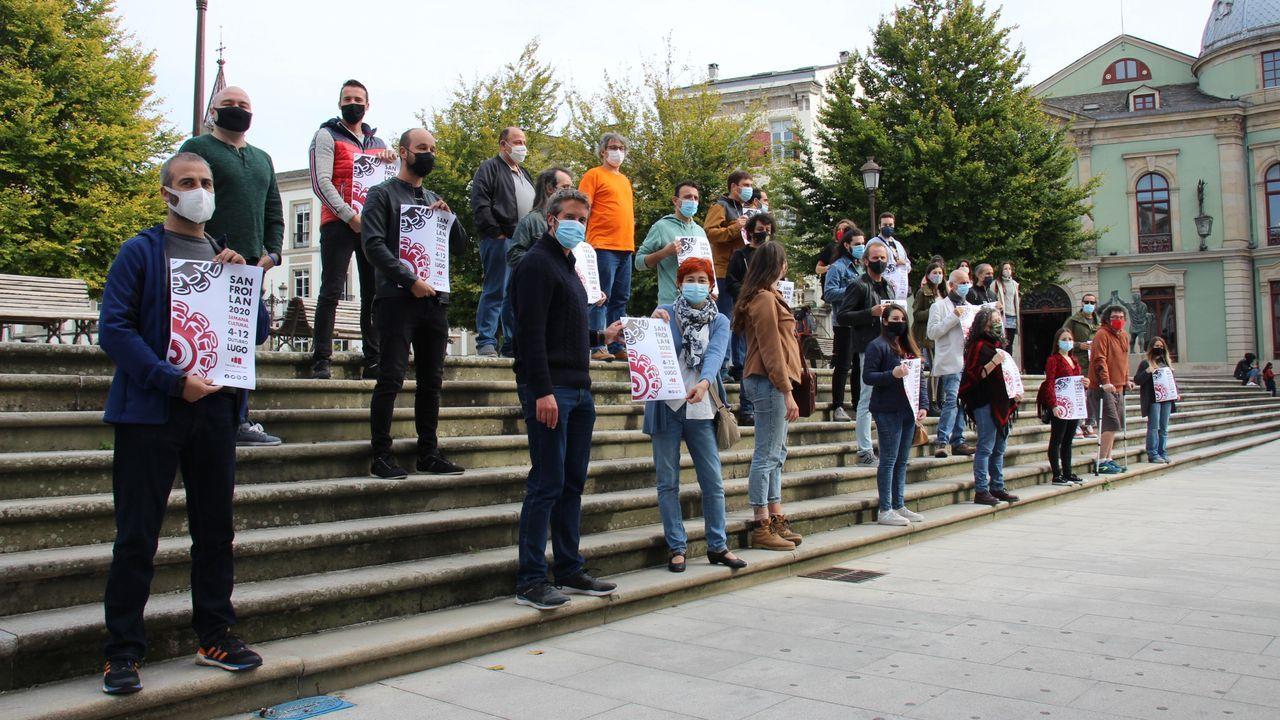 Presentación del cartel de la semana de San Froilán con algunos de los grupos de Lugo