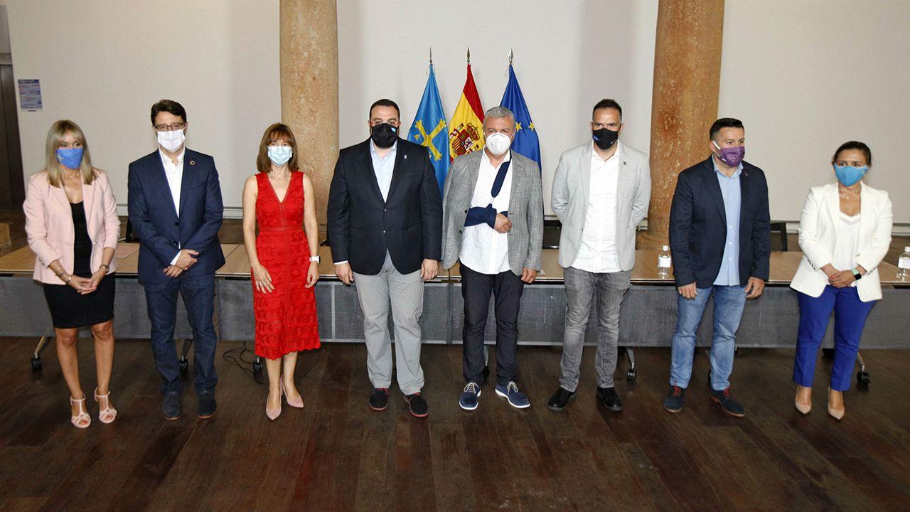 Asturias.Firma del pacto de concertación social entre Principado y agentes sociales