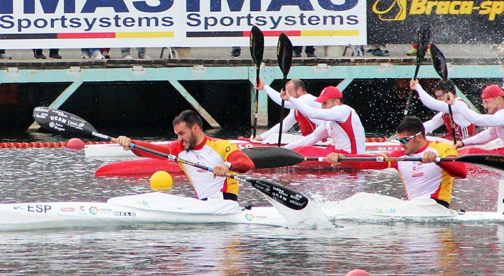 La pareja española lideró la regata del preolímpico europeo desde los primeros metros.