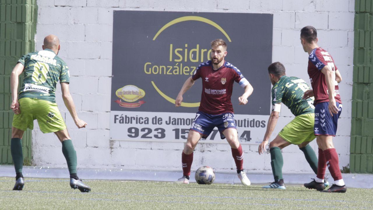 Descalabro del Pontevedra CF en Guijuelo.Alineación del Vetusta en el partido ante el Sporting B
