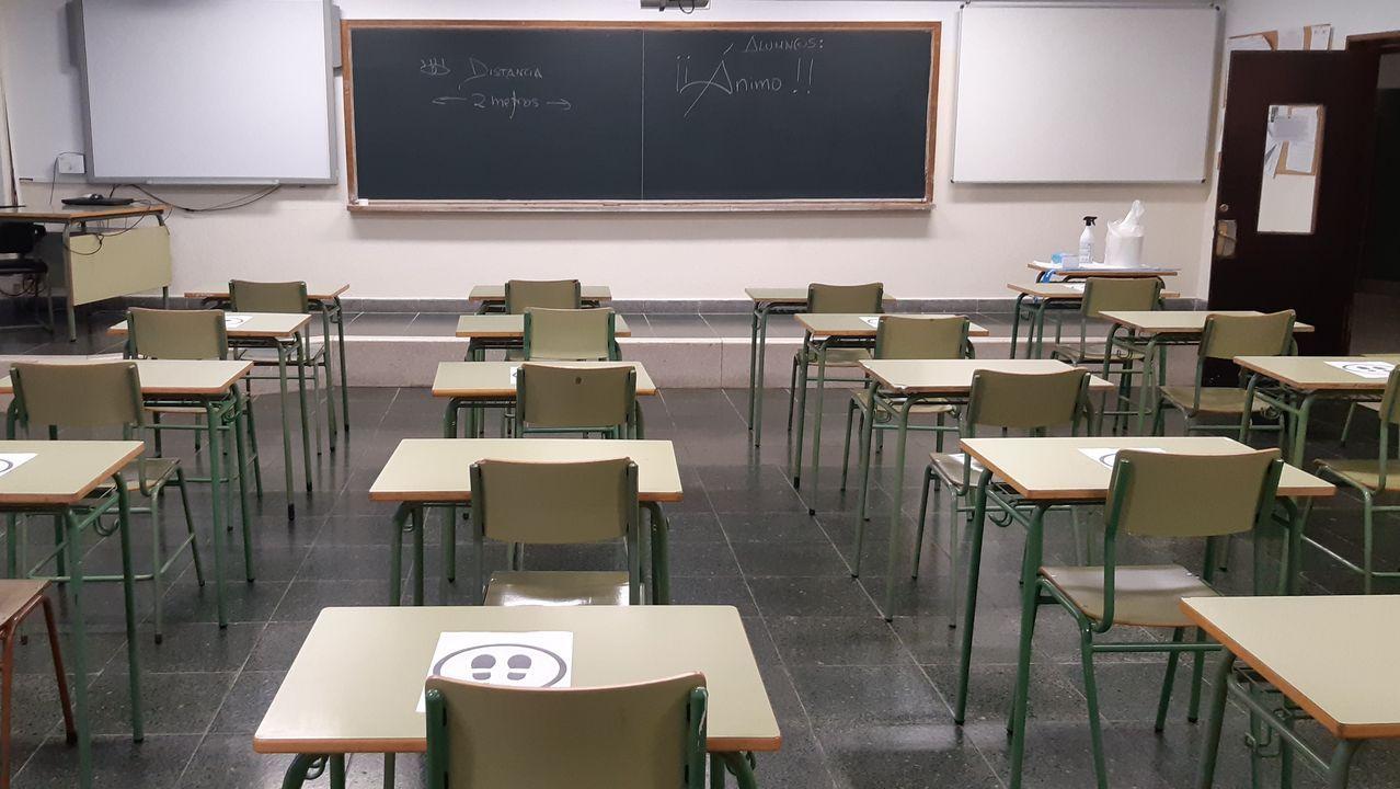 Las aulas, listas para los alumnos en el vigués instituto de Santo Tomé