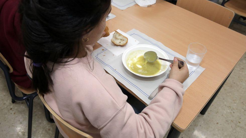 Comedor escolar en un colegio gallego