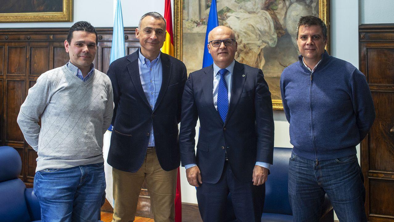 Francisco Masid, Roberto Baratta, Manuel Baltar y Alberto Estévez