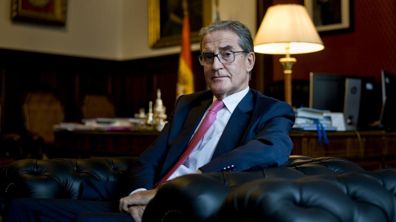 El presidente del Tribunal Superior de Xustiza de Galicia, el miércoles en su despacho.