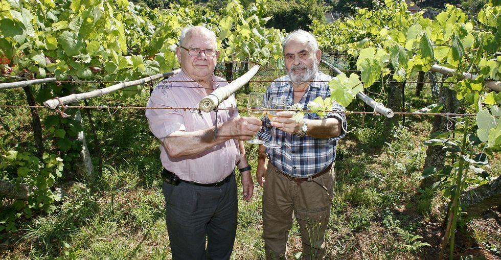 Valentín Buceta y Manolo García fueron los organizadores de la Feira do Viño de Barro durante las primeras siete ediciones.