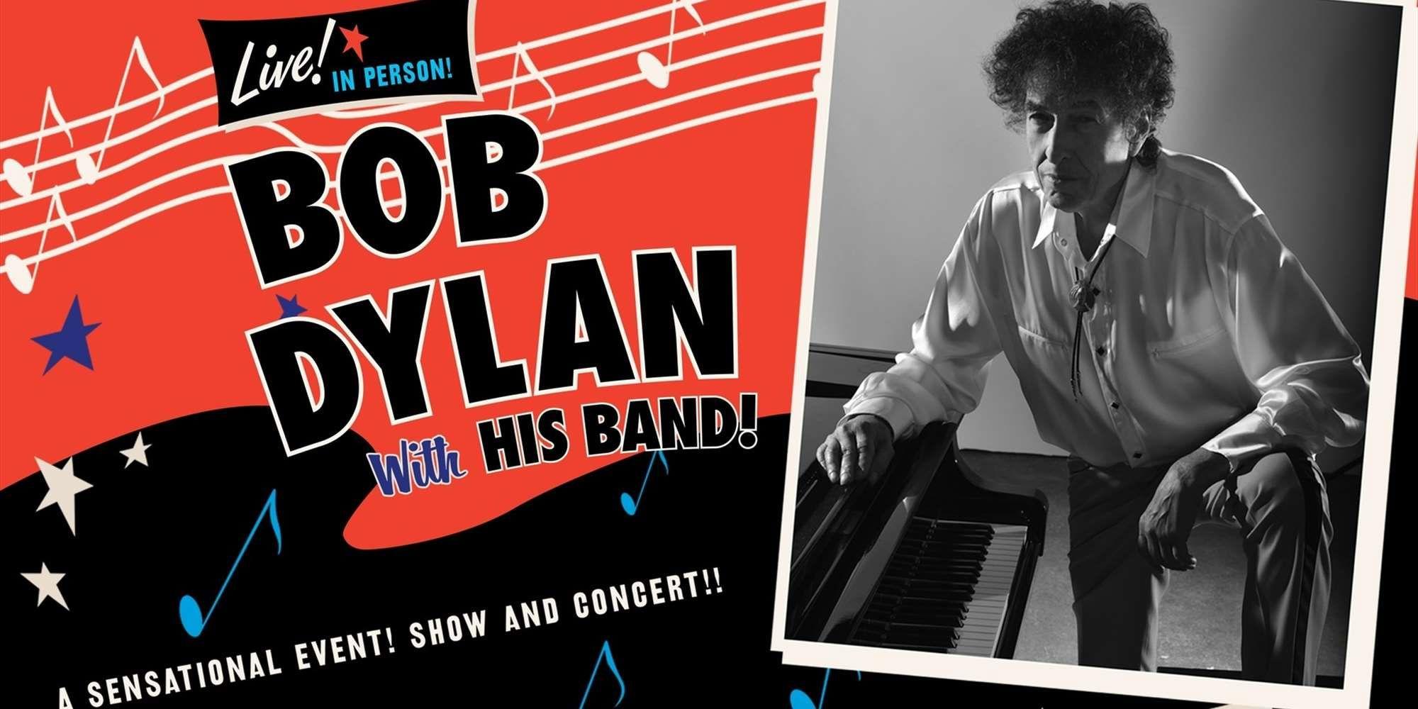 Cartel de la gira española 2018 de  Bob Dylan