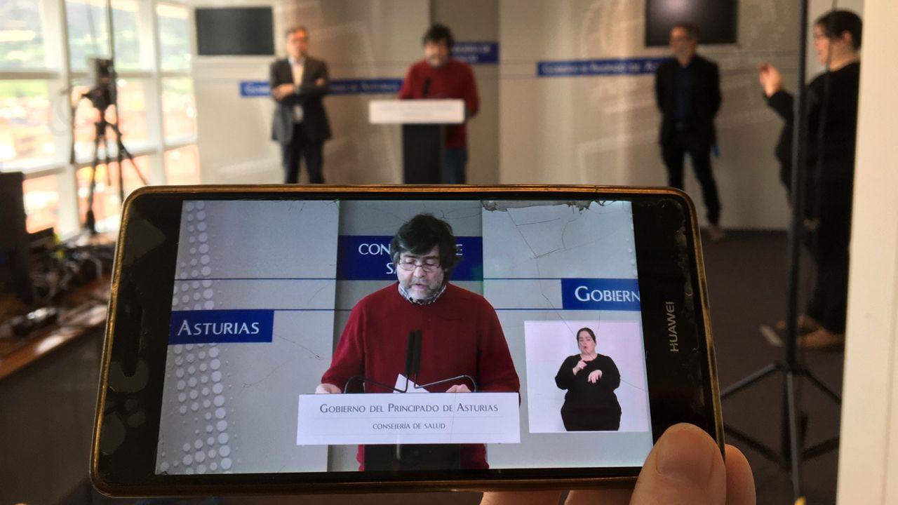Ismael Huerta interviene en la rueda de prensa telemática, en la que ha participado con Rafael Cofiño y Mario Margolles