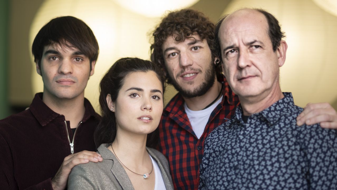 Eneko Sagardoy, Loreto Mauleón, Jon Olivares y Mikel Laskurain