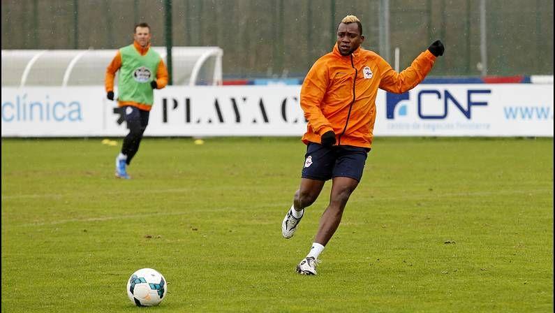 Sissoko, en el entrenamiento de este martes