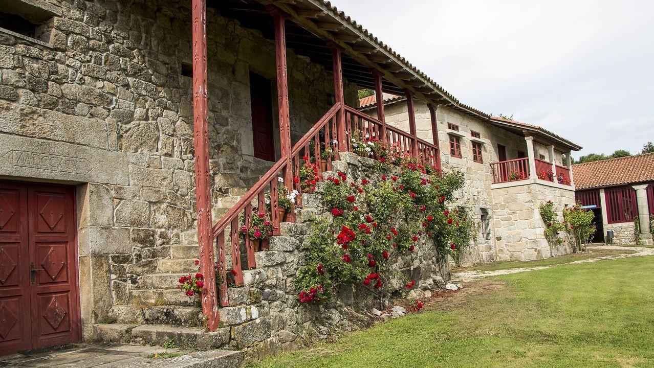 Exterior del pazo de O Saviñao en el que se ubica el ecomuseo