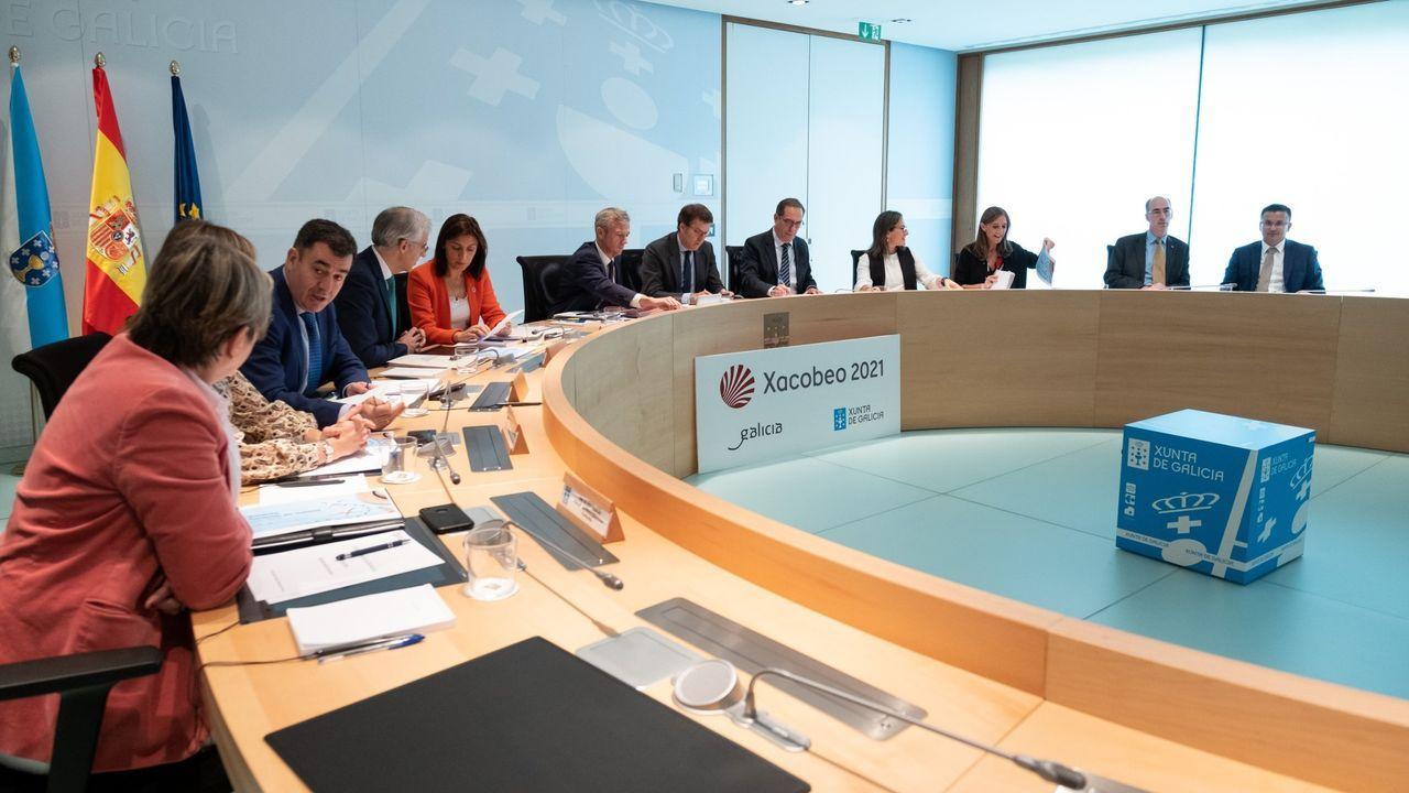 Obras en la variante de Pajares.Reunión del Consello de la Xunta presidida por Núñez Feijoo