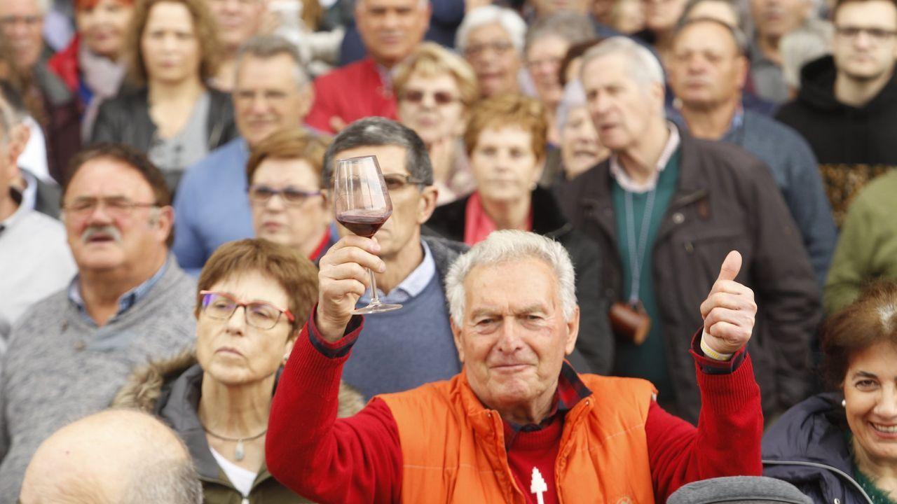 Público en la edición del pasado año de la Feira do Viño de Amandi