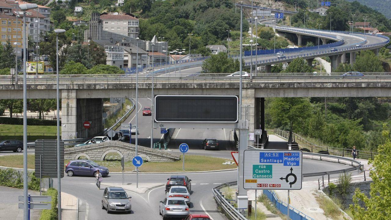 Panel informativo situado en el acceso centro a la ciudad