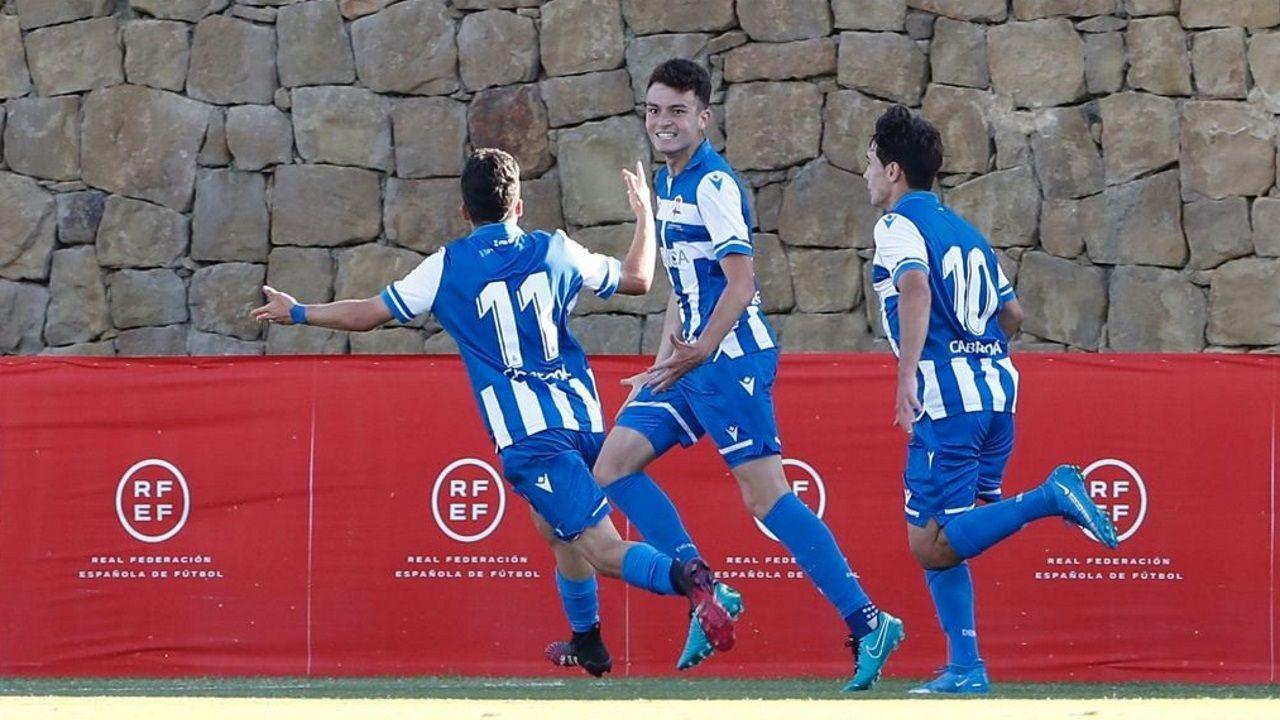 De izquierda a derecha (Superior): Trilli, Dani Barcia y Guille Bueno (Inferior): Jairo, Noel y David Mella