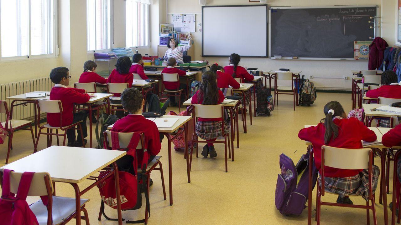Las impresionantes instalaciones del Seminario Menor y de su colegio diocesano.Una de las aulas de Secundaria del Colegio San Miguel de Gijón