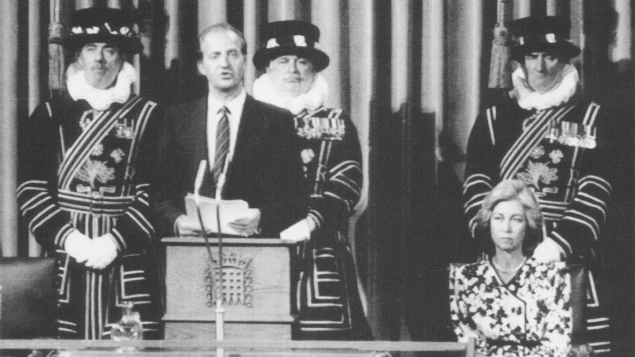 Durante la apertura de una sesión en el Parlamento de Londres
