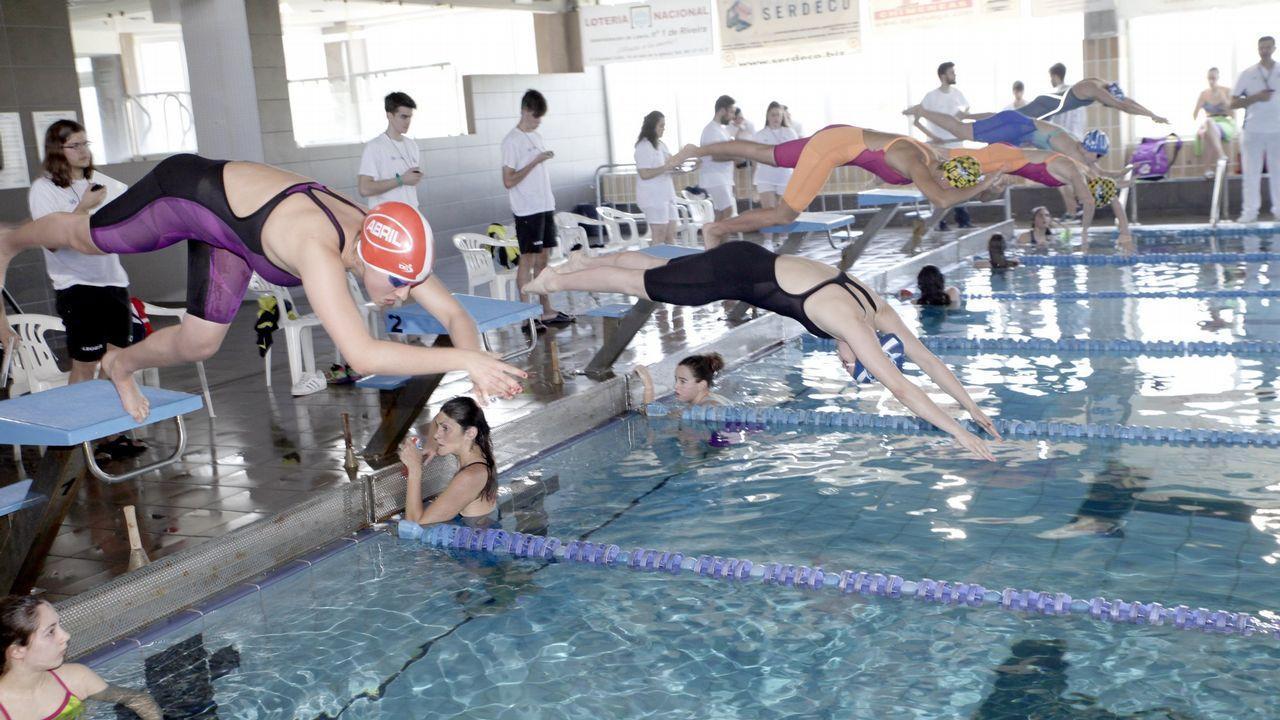 La 40ª edición de la Travesía a nado El Corte Inglés de Vigo, en imágenes
