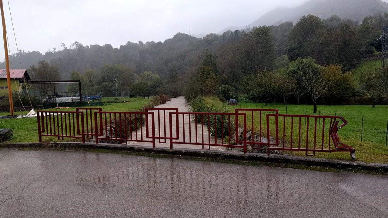 Inundaciones en Vibañu, Llanes