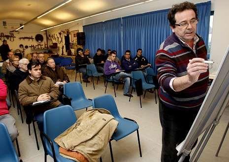 Jornada de fruticultura el pasado enero, con Francisco Otero.