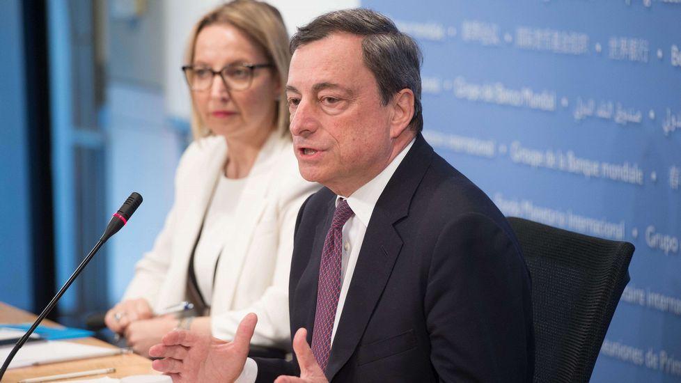 Draghi, en Washington