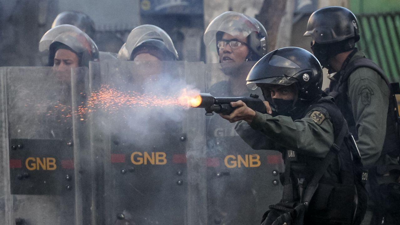 Dos personas muertas en la segunda jornada de huelga general contra Maduro.Protesta del sindicato USO Asturias