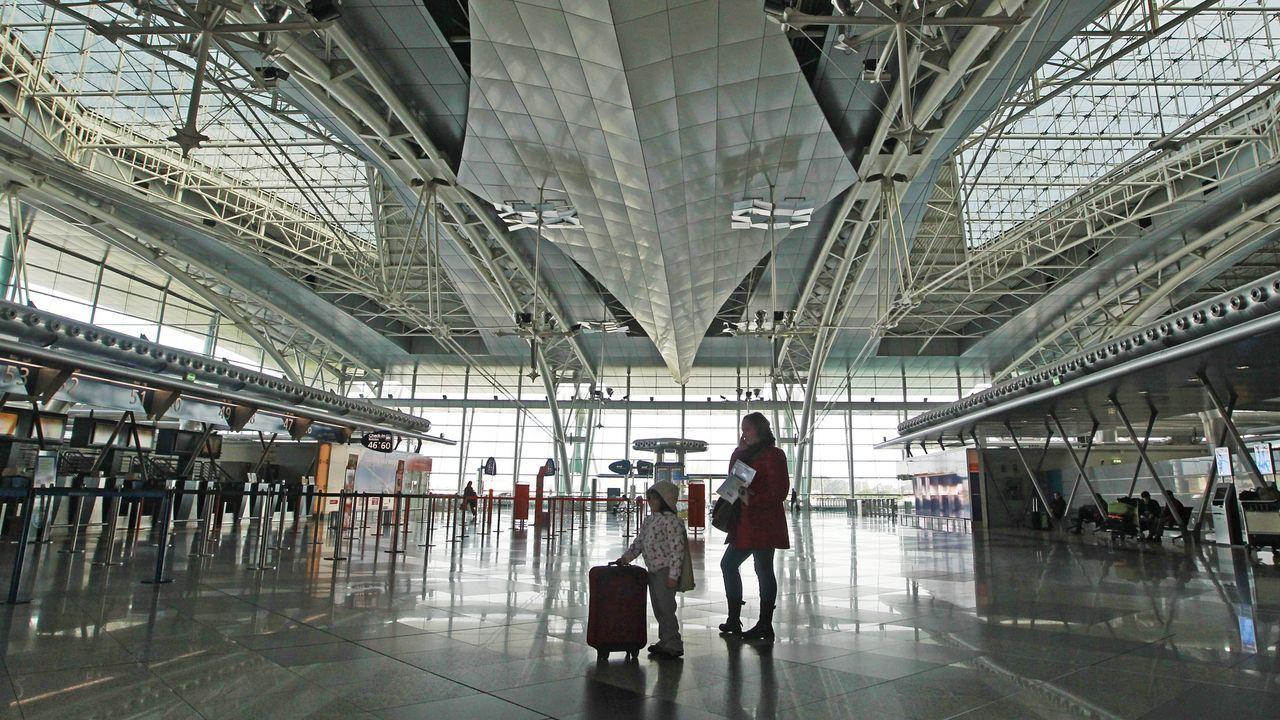 El perro Topi por fin puede viajar a su nuevo hogar.aeropuerto de Oporto