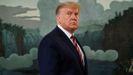 El presidente de Estados Unidos, Donald Trump, este miércoles, en la sala diplomática de la Casa Blanca