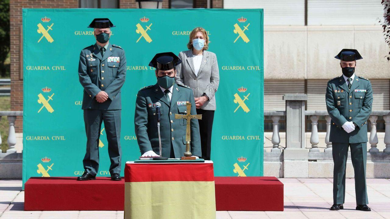 El coronel Francisco Javier Puerta toma posesión como jefe de la XIV Zona de la Guardia Civil de Asturias