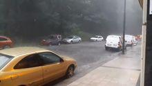 Increíble tormenta durante la tarde en Asturias