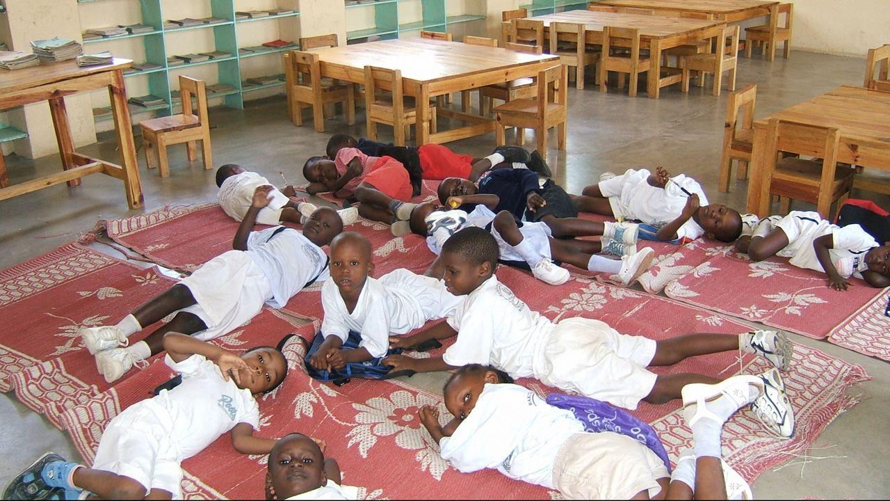 Una escuela infantil promovida en Tanzania por Proclade, una de las ONG subvencionadas por Oviedo
