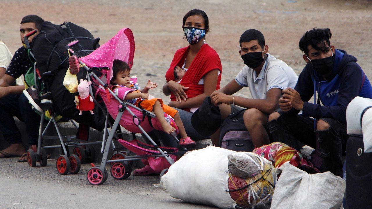 Desplazados venezolanos en la ciudad colombiana de Cúcuta