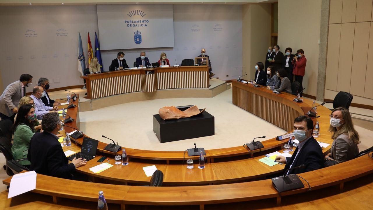 Puesta en marcha de la comisión de reactivación, en octubre del 2020; fue la primera creada con el arranque de la nueva legislatura gallega