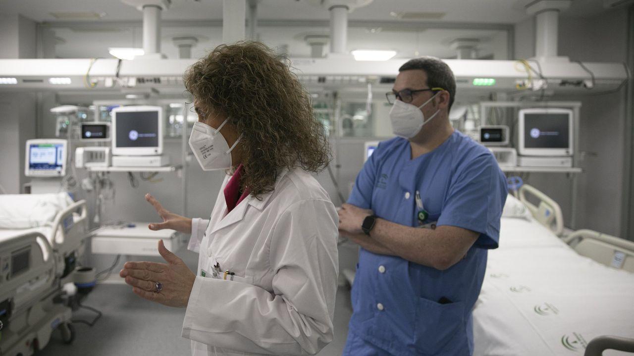 Llega la segunda dosis de la vacuna contra el coronavirus a Vigo.La ocupación de uci por pacientes covid bajó ayer ligeramente