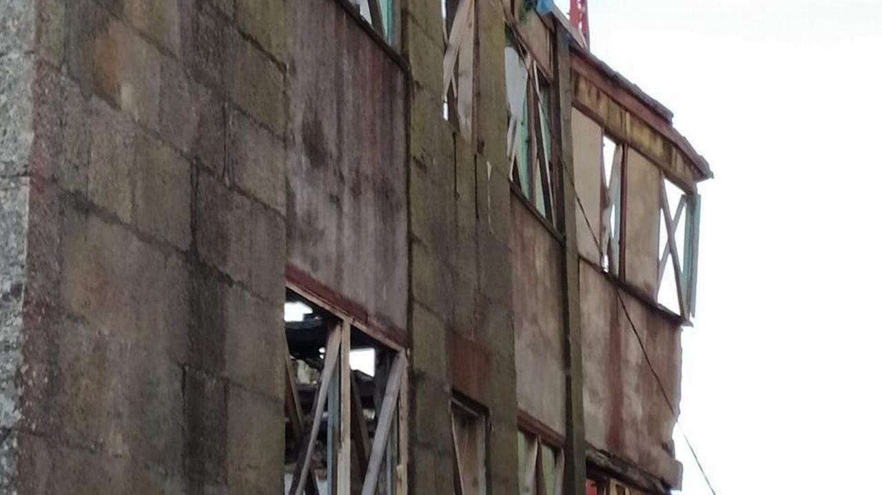 El edificio está en obras para convertirse en geriátrico