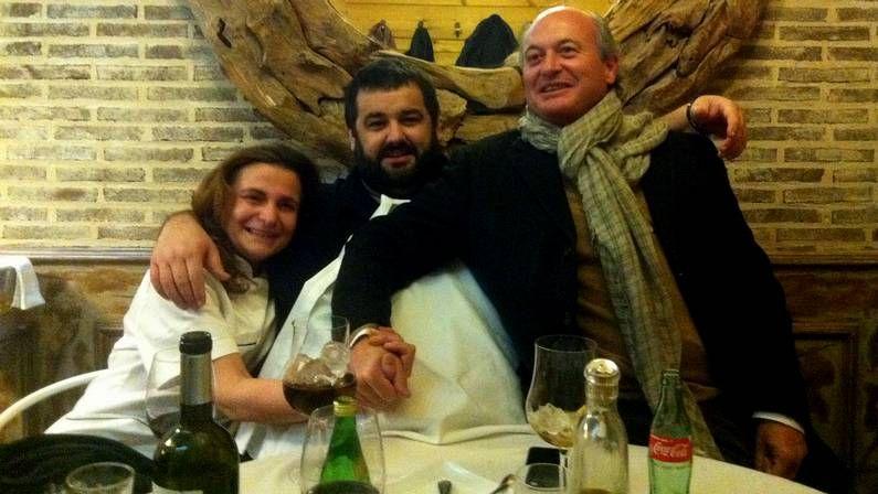 Martín Berasategui con Ramón Blanco, Jesús Otero, Ramiro Ruibal y Álex Iglesias ayer en Madrid Fusión.