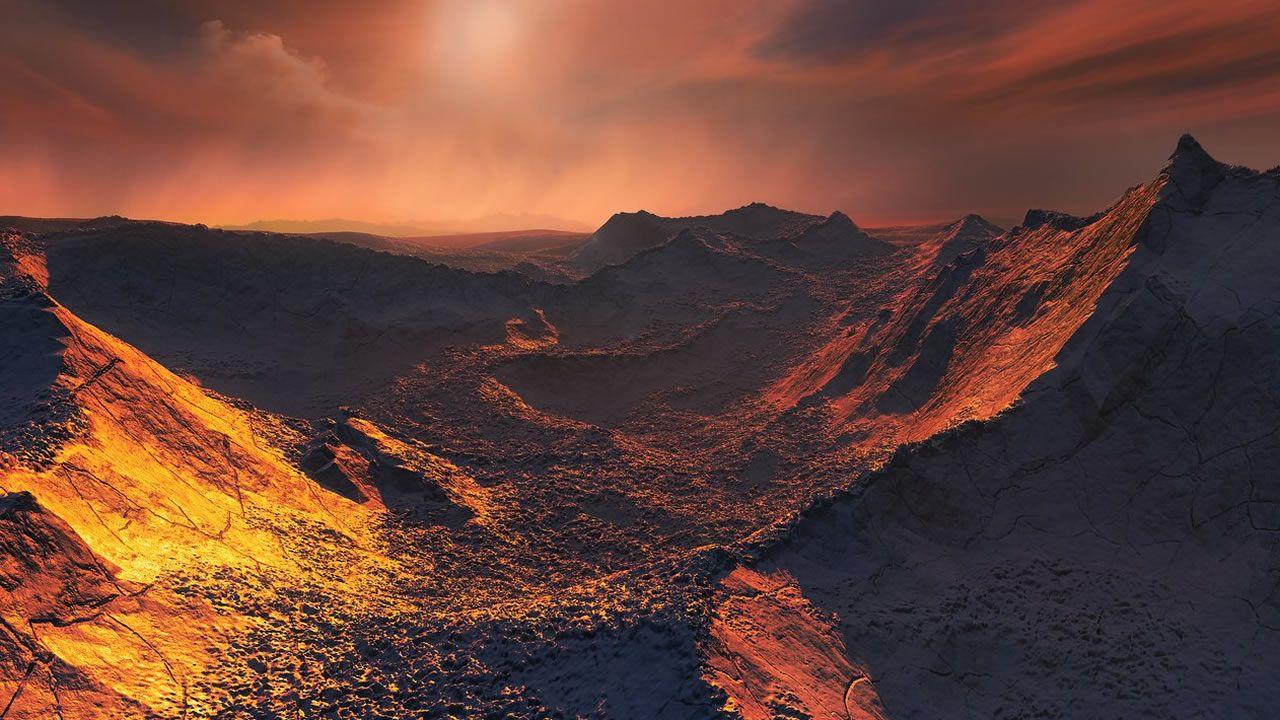 Ilustración del planeta cedida por el Observatorio Europeo Austral.La ruta discurre en medio de una densa vegetación ribereña