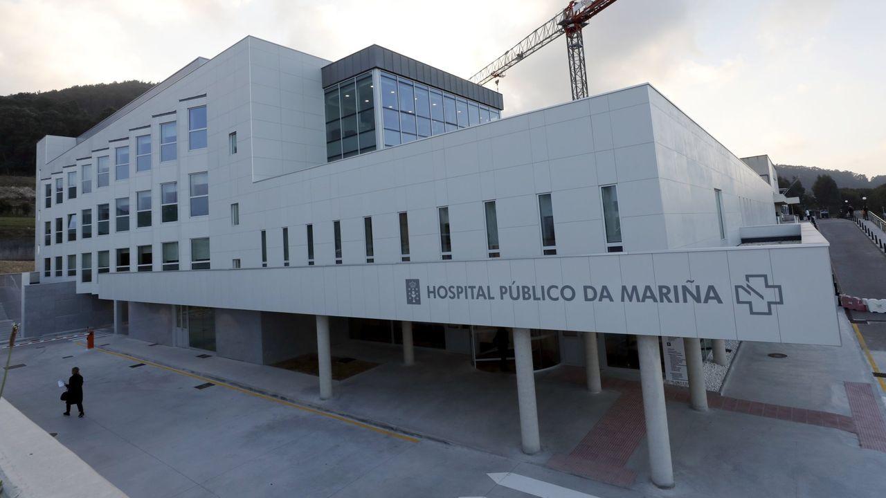 Toma de muestras en el Hospital de Burela