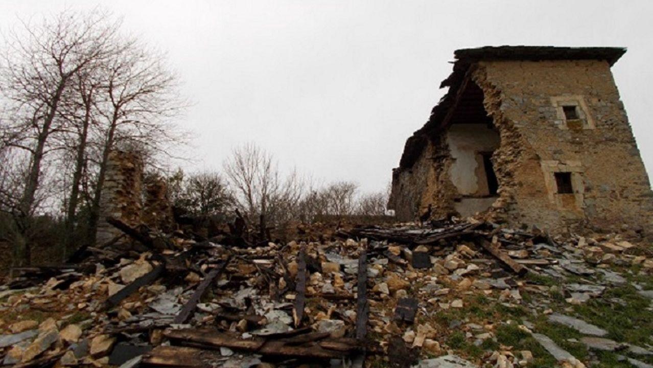 La casa-torre de Veiga de Forcas, en Pedrafita, en ruina total
