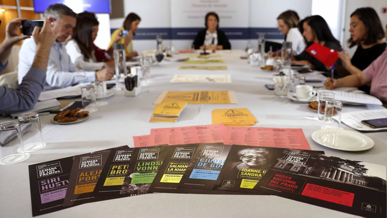 Asturias se reivindica en Fitur.La directora de la Fundación Princesa de Asturias, Teresa Sanjurjo, presenta jueves el programa de actividades culturales de la Semana de los Premios Princesa de Asturias 2019