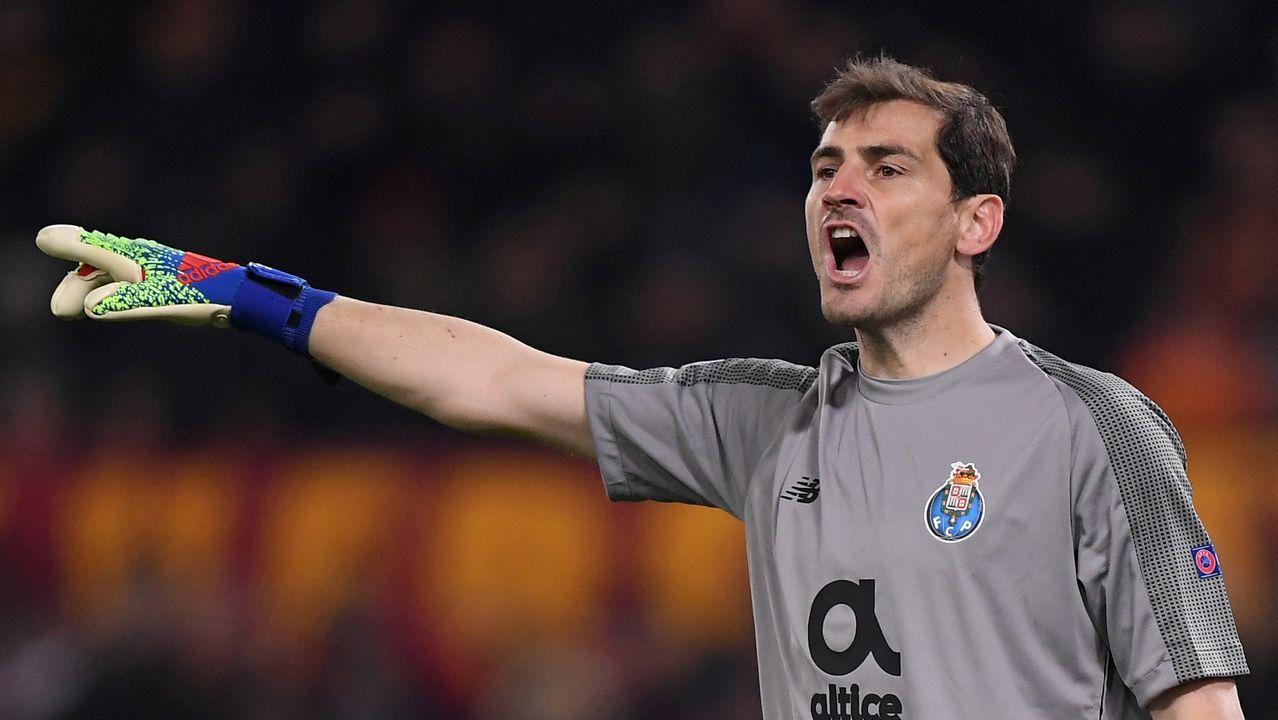El infarto de Iker Casillas: «Nadie está libre de que eso le pueda pasar».Casillas, en un partido frente al Celta