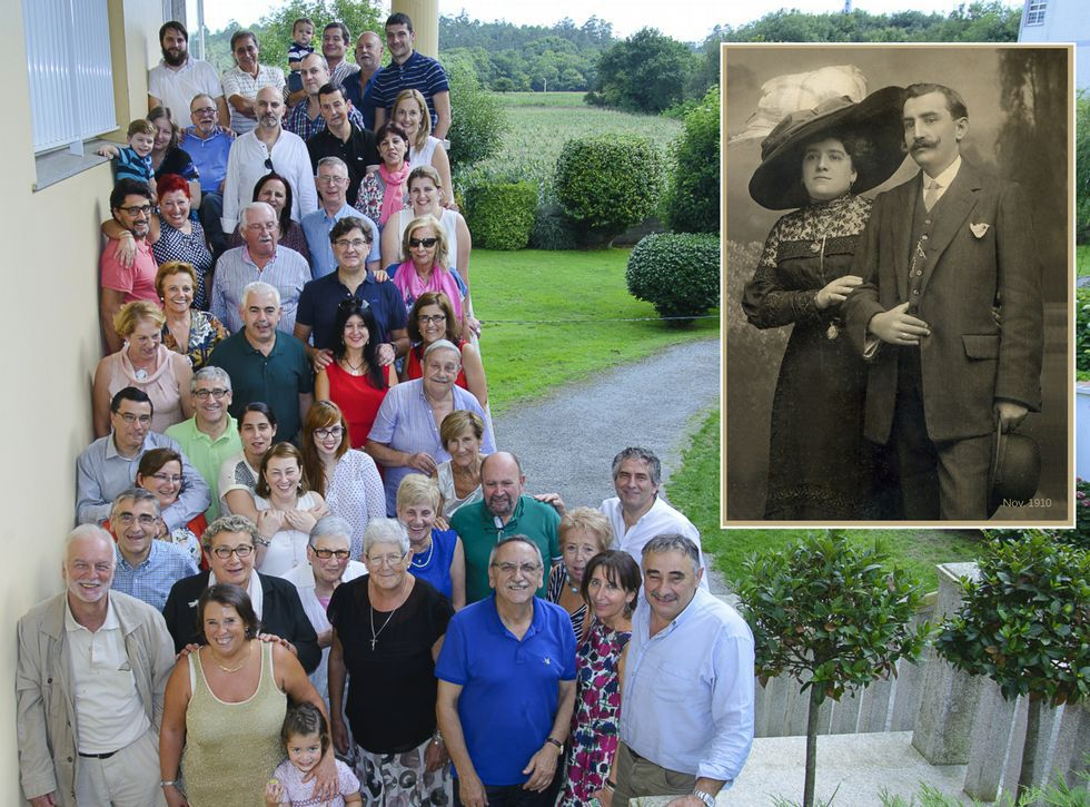 Participantes en la segunda xuntanza de la familia Villar-Graíño.