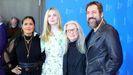 Salma Hayek, Elle Fanning, Sally Potter y Javier Bardem, este miércoles en Berlín