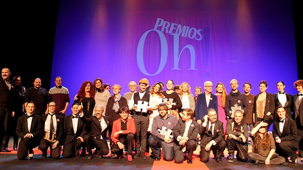 Foto de familia de los Premios Oh! 2017