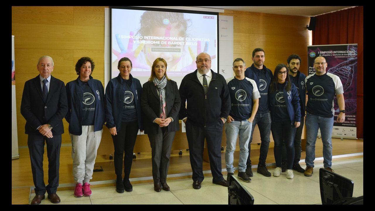 Mabel Rivera visitó a los alumnos del colegio Luis Vives e interpretó un texto de Valle Inclán con ellos.