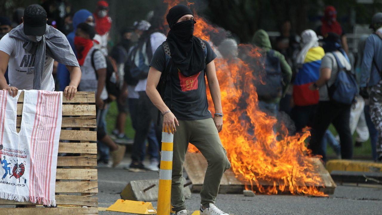 Aunque la marcha en Bogotá, la más multitudinaria, fue pacífica hubo enfrentamiento en el oeste de la ciudad