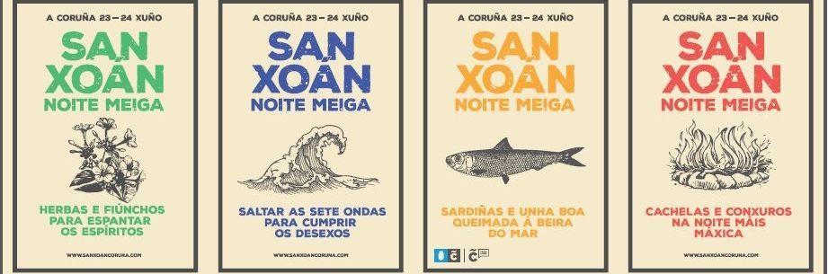 El nuevo cartel de las fiestas de San Juan se presentó ayer en el Ayuntamiento.