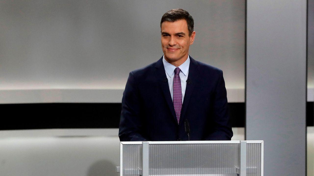 Pedro Sánchez, en el debate electoral