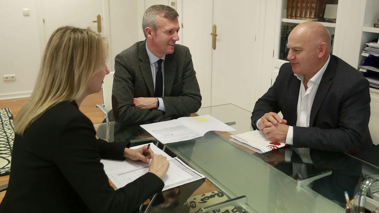 El alcalde Jaime Sousa se reunió con el vicepresidente de la Xunta, Alfonso Rueda