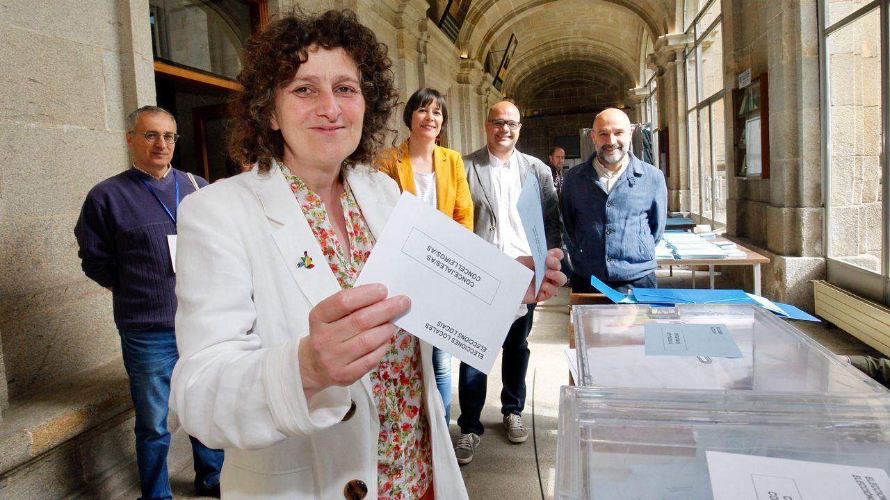 Goretti Sanmartin candidata a la alcaldía por el BNG en Santiago